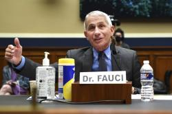 Director of the National Institute of Allergy and Infectious Diseases Dr. Anthony Fauci testifies before a House Committee on Energy and Commerce on the Trump administration's response to the COVID-19 pandemic on Capitol Hill in Washington on Tuesday, June 23, 2020