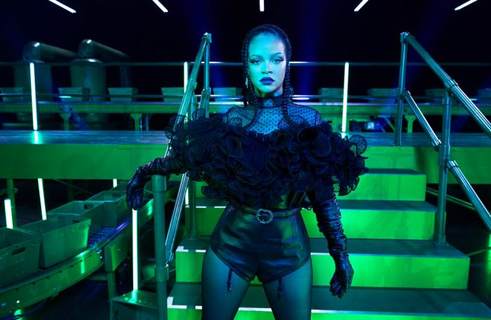 Rihanna on the set of The Savage X Fenty Show Vol. 2 Presented by Amazon Prime Video in Los Angeles.