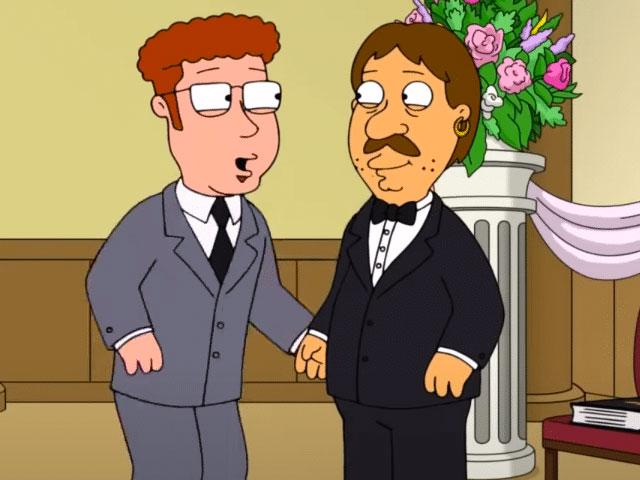 """Jeffrey and Bruce on """"Family Guy"""""""