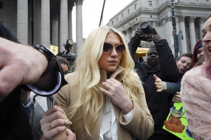 Kesha leaves Supreme court in New York after a hearing involving her producer, Dr. Luke.