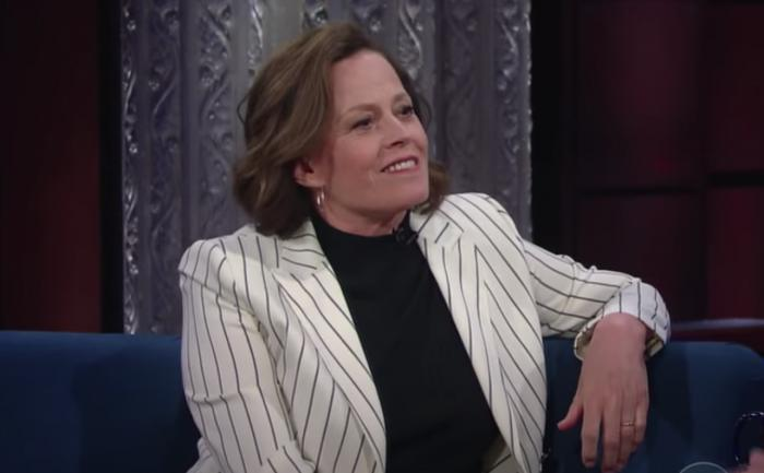 """Sigourney Weaver on """"The Late Show."""""""